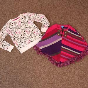 👯♀️$3 IF BUNDLE.(2) girl sweaters
